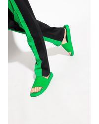 Bottega Veneta Embossed Slides - Green