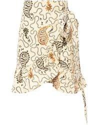 Étoile Isabel Marant Frilled Skirt Cream - Natural