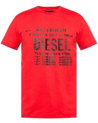 DIESEL Logo-printed T-shirt - Red