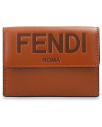 Fendi Wallet With Logo - Brown