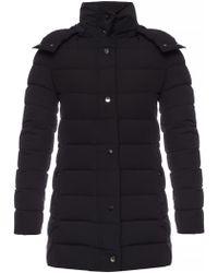 e76a3b979 Lyst - Moncler Quilted Nylon Biker Jacket in Black for Men