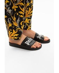 Palm Angels Logo Slides Black