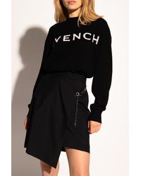 Givenchy Cashmere Jumper With Logo Black