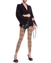 Burberry Patterned Leggings Beige - Brown