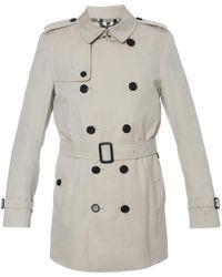 Burberry Kensington Short Trench Coat - Natural