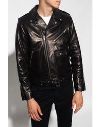 IRO Padded Biker Jacket - Black