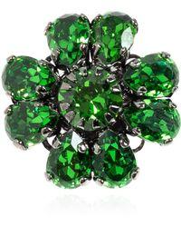 Etro Four-leaf Clover Brooch - Green