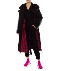 DIESEL Coat With Logo - Black