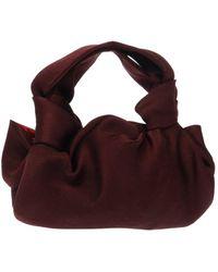 The Row 'ascot' Handbag Burgundy - Multicolour