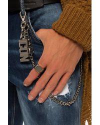 DSquared² Brass Ring Silver - Metallic