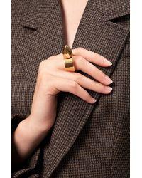 Balenciaga Embellished Ring Multicolour - Metallic