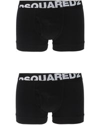 DSquared² Two-pack Of Boxer Shorts With A Logo - Black