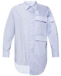 Loewe Oversized Asymmetric Shirt - Blue