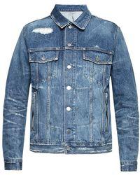 Balmain - Raw-trimmed Denim Jacket - Lyst