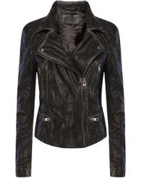 AllSaints 'cargo' Leather Jacket - Black