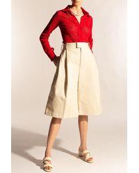 Bottega Veneta Straight Leg Shorts Cream - Natural