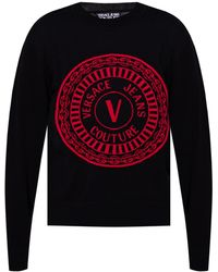 Versace Jeans Couture Jumper With Logo Black