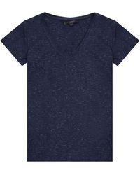 AllSaints - 'emelyn' T-shirt Navy Blue - Lyst