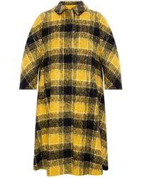RED Valentino Checked Coat Yellow