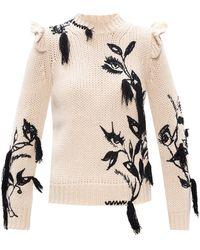 Zimmermann Merino Wool Sweater Cream - Natural