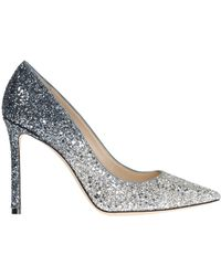 Jimmy Choo 'romy' Glitter Court Shoes - Metallic