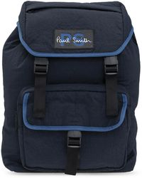 PS by Paul Smith Logo-appliquéd Backpack - Blue