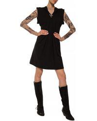 DIESEL Short Sleeve Dress Black