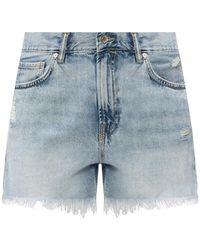 AllSaints 'yanni' Denim Shorts Light Blue