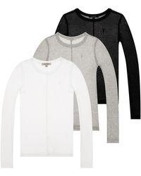 AllSaints 'francesco' T-shirt Three-pack Multicolour