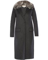 Michael Kors Fur Collar Coat - Gray