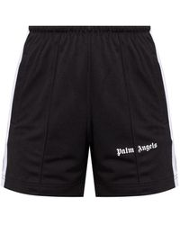 Palm Angels Shorts With Logo - Black
