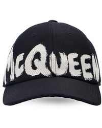 Alexander McQueen Branded Baseball Cap Unisex Black