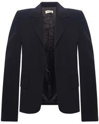 Zadig & Voltaire Blazer With Notched Lapels Black