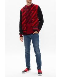 Givenchy Jumper With Logo Burgundy - Red