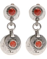 Saint Laurent - Clip-on Earrings With Pendants - Lyst