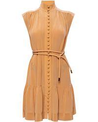 Zimmermann Silk Dress - Natural