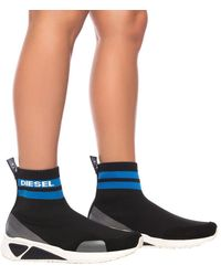 DIESEL 's-kb Sock' Sport Shoes With A Sock - Black