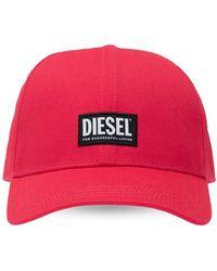 DIESEL Baseball Cap With Logo Unisex Red
