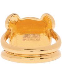Moschino Ring With Teddy Bear - Metallic