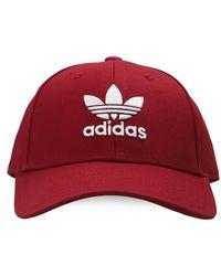 adidas Originals Branded Baseball Cap Unisex Burgundy - Red