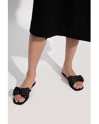 Kate Spade 'bikini' Patterned Slide Sandals Black