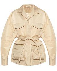 Totême Jacket With Notched Lapels Beige - Natural