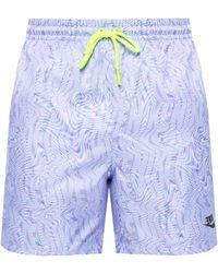 Nike Swim Shorts With Logo Blue