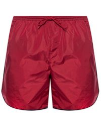 Gucci Side-stripe Swimming Shorts - Red
