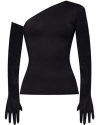 Vetements Top With Gloves - Black