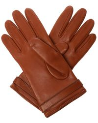 Burberry Leather Gloves Brown