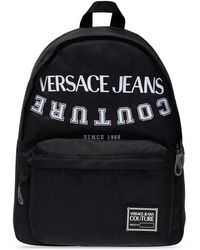 Versace Jeans Couture Backpack With Logo - Black