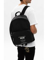 Versace Jeans Couture Backpack With Logo Black