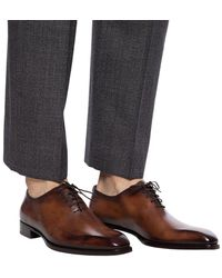 Berluti Alessandro Galet Leather Oxford Brown