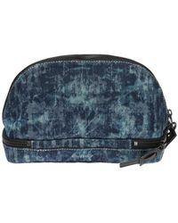 DIESEL Branded Wash Bag Unisex Navy Blue